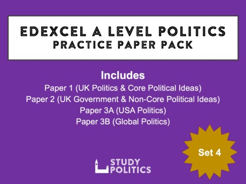 Edexcel A Level Politics Practice Papers Set 4