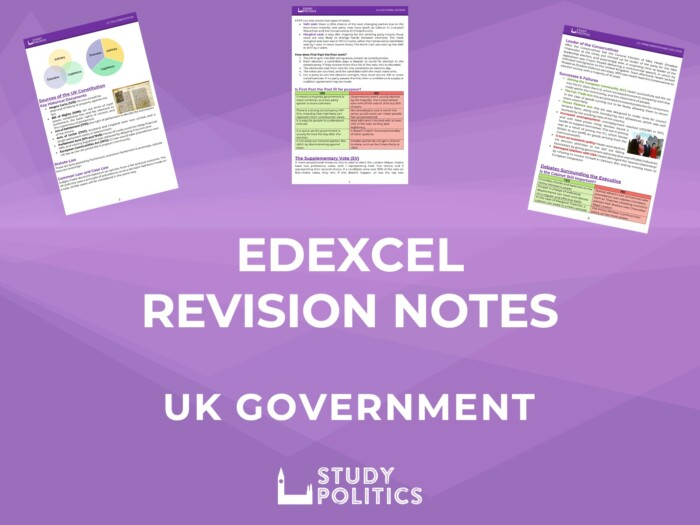 Edexcel UK Government Revision Notes